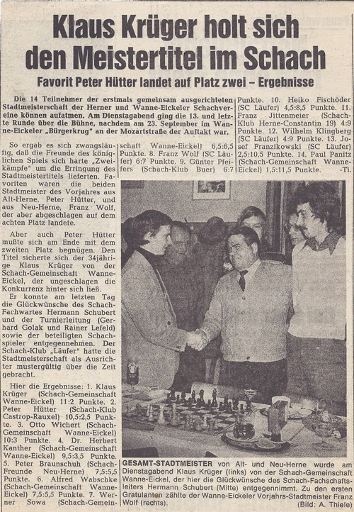 Presseartikel von 1975