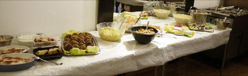 Das Buffet war lecker und reichlich bemessen - alles in Eigenleistung!!!
