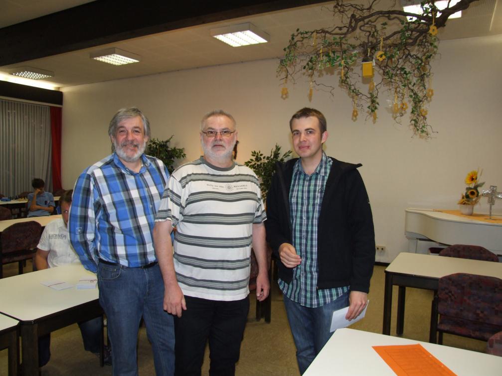 Von links: Volker Rhein, Peter und Andreas